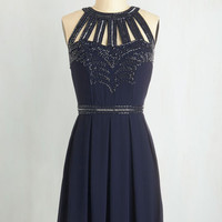 Mid-length Sleeveless A-line Snowfall Soiree Dress