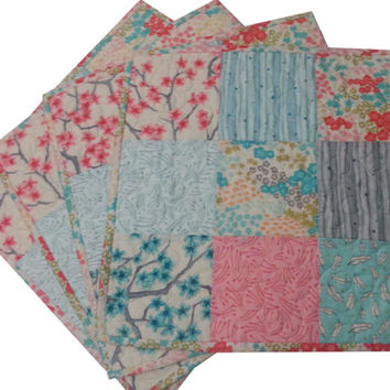 Quilted Patchwork Placemats in Asian Prints