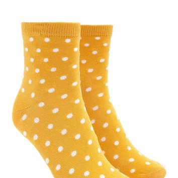 Polka Dot Crew Socks