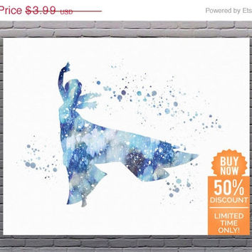 Frozen Elsa Snow Disney Print Frozen Art Frozen Decor Frozen Watercolor Disney Princess Disney Nursery Disney Wall Art Digital Download Art