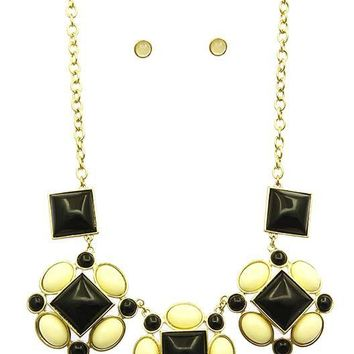 Homaica Stone Bib Necklace Set