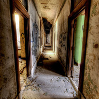 "8x12 - Neglected Beauty, Abandoned Building, Surreal Fine Art, Detroit Architectural color photography ""Enter if You Dare"""