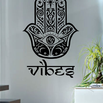 Hamsa Hand Vibes Version 3 Design Decal Sticker Wall Vinyl Decor Art