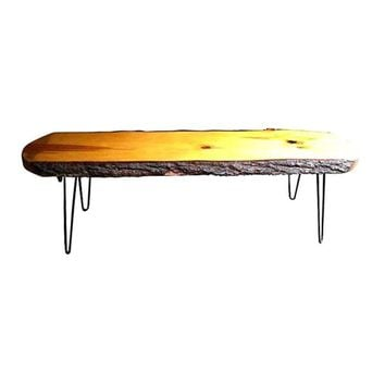 Pre-owned 60's Slab Wood Coffee Table