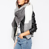 ASOS | ASOS Oversized Square Scarf In Oversized Blown Up Check at ASOS