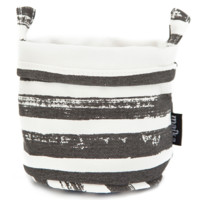 Canvas Bucket - Charcoal Stripes