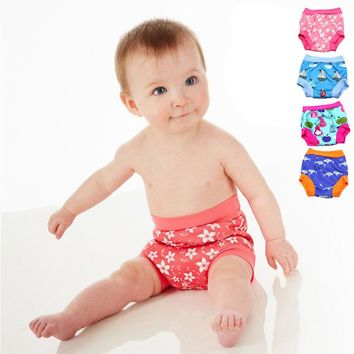 Leakproof Diapers for Swimming Reusable Nappies for Swim Nappy Swim Diaper Trunks Baby Swim Diapers for Boys Girl 6M-5T