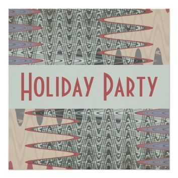 grey and pink Holiday Party Invitation