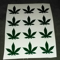 Pot Leaf Tanning Stickers - Marijuana tan lines Sexy Decals - Tanning shape - Stoner Tanning Bed Stickers - body decals- FREE SHIP IN U.S.