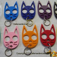 Black Cat Keychain for Self Defense