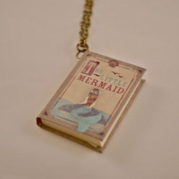 The Little Mermaid Fairytale Book Necklace