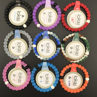 Free ShippingUnisex fashion style orange lokai bracelets clear blue pink colors in cheap price