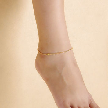 Jewelry Ladies Shiny Sexy Stylish Cute Gift New Arrival Accessory Summer Simple Design Matte Simple Anklet [7240939143]