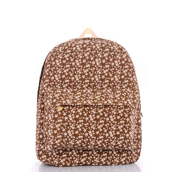 Brown Canvas Backpack = 4887738692