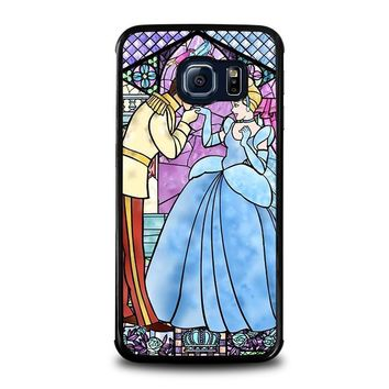 cinderella art glasses disney samsung galaxy s6 edge case cover  number 1