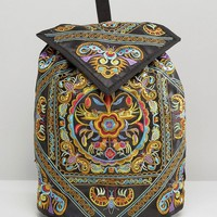 Reclaimed Vintage Ornate Embroidered Backpack
