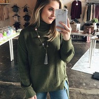 Time Together Sweater - Olive
