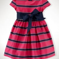 Striped Cotton Sateen Dress
