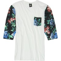 Insight Blue Note Raglan T-Shirt - 3/4-Sleeve - Men's Blue Note Floral,