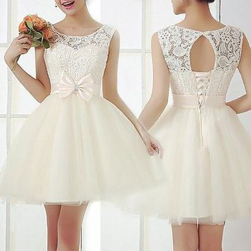 Young Tweens 2018 Sleeveless Ball Gown , Cocktail Dress, Brides Dress - Shipping Free