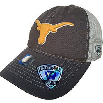 Texas Longhorns TOW Gray Putty Two Tone Mesh One Fit Flexfit Hat Cap