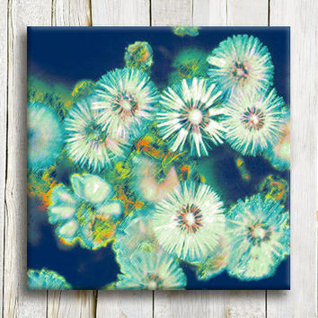 "Blue flowers, Floral giclee art prints, 12""/12"" 30/30 cm"
