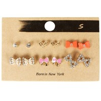 Gold Assorted Mixed Earring Set