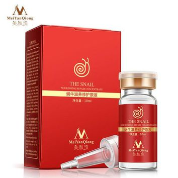 DKF4S High Quality Snail 100% pure plant extract Hyaluronic acid liquid whitening blemish serum ampoules anti-acne Rejuvenation Serum