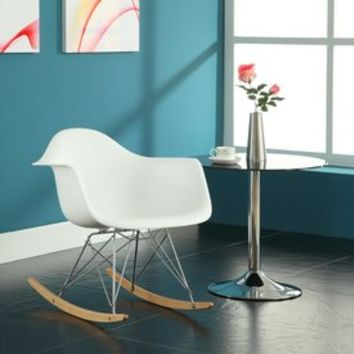 Shop Modway Modern White Rocking Chair at Lowes.com