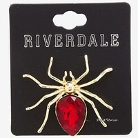 Licensed cool Riverdale Cheryl Blossom HBIC Replica RED Spider Brooch Pin Hot Topic Exclusive