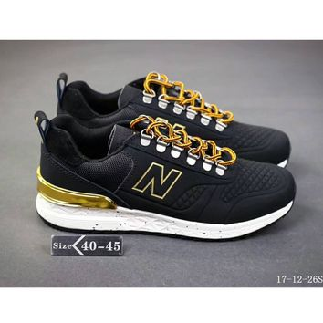 New Balance 574 limited men and women fashion sports shoes F-SSRS-CJZX Black