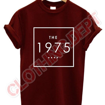 the 1975 t shirt box band music facedown tour punk rock band concert group matt healy all colours