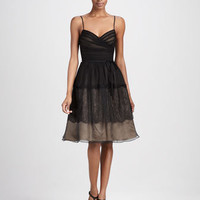 Overlay Sweetheart Cocktail Dress