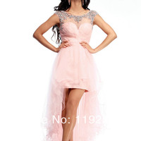 dresses sexy Picture - More Detailed Picture about Hot selling new 2014 custom made sexy ball gown plus size pink tulle cheap party dress for party/wedding/homecoming/proms Picture from readdress