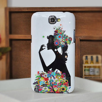 Handmade glitter girl samsung galaxy note 2 case Galaxy S3 i9300 case,galaxy s4 case, iphone 4s case iphone 4 case iphone 5 case