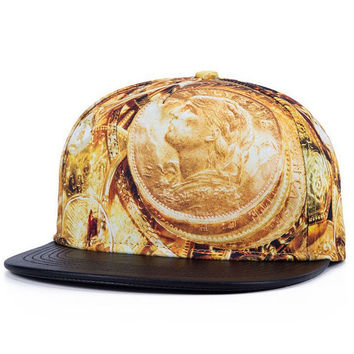 Greece Coins Snapback Hat