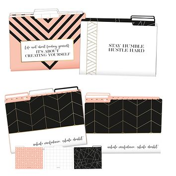 It's About Creating Yourself File Folder Set in Geometric Patterns