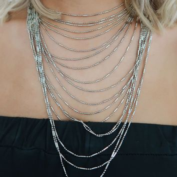 Find My Way Necklace: Silver