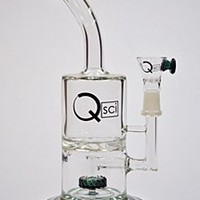 """10"""" Tall In-Line Disc to Turbine Perc Water Pipe"""