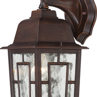 "12"" Outside Wall Lights in Rustic Bronze Finish"