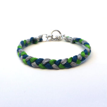 Seahawks Bracelet Braided
