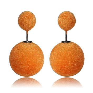 Gum Tee Mise en Style Tribal Earrings - Velvet Orange