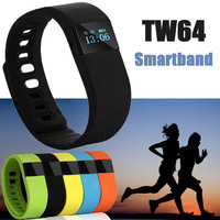 Newest TW64 Smartband Smart bracelet Wristband Fitness tracker Bluetooth 4.0 Smartwatch Sports Health Pedometer  For ios android