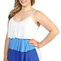 plus size triple tiered ombre tank - 1000050578 - debshops.com