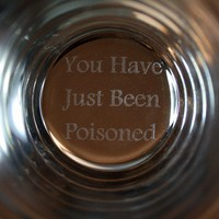 Funny Guy Mugs You Have Just Been Poisoned Pint Glass, 16-Ounce