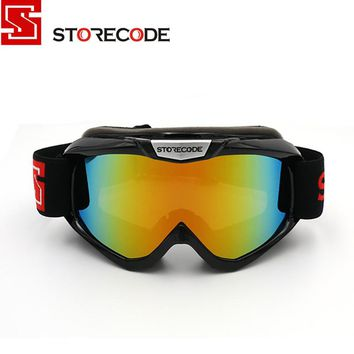 StoreCode Brand Ski Goggles Double Lens Anti-Fog UV400 Snowboard Glasses Men Women Black Frame Skiing Snow Goggles Set 671