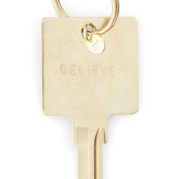 The Giving Keys Believe Hotel Key Pendant | Nordstrom