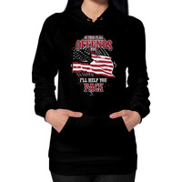 Aircraft mechanic love his country Hoodie (on woman)