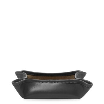 Ghurka No 58 Leather Tray - Black