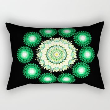 Anahata Flower in the Night Rectangular Pillow by Azima